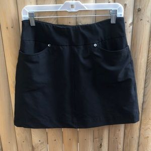 Tail A-line black built in shorts skirt size 6